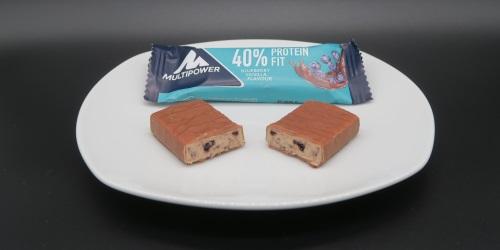 Multipower 40% Protein Fit Riegel Blueberry Vanilla im Proteinriegel Test