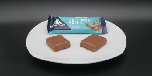 Multipower 40% Protein Fit Riegel Chocolate Almond im Proteinriegel Test
