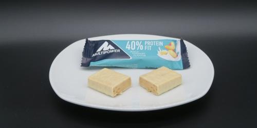 Multipower 40% Protein Fit Riegel Peach Yoghurt im Proteinriegel Test