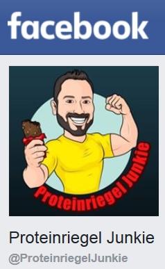 Proteinriegel Junkie bei Facebook